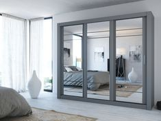 499 assembly 80 x x cm new white matt large mirrored sliding door wardrobe 3 doors great quality modern wardrobe made in Europe free delivery - June 01 2019 at Mirrored Wardrobe Doors, Mirrored Bedroom Furniture, Sliding Wardrobe Doors, Bedroom Decor, Diy Wardrobe, Bedroom Wardrobe, Modern Wardrobe, Wardrobe Furniture, Sliding Wardrobe Designs