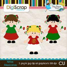 NIñas mexicanas Fairy Princesses, Clip Art, Dolls, Cards, Graphics, Mexican Fiesta Party, Mexican, Graphic Design, Puppet