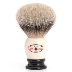 Muhle Retro Silvertip Shaving Brush, Black & Cream Handle | Fendrihan Shaving Store