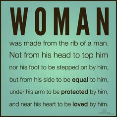 God made the woman