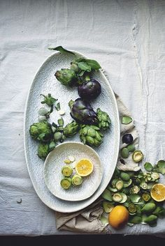 Raw Artichoke Salad with Preserved Lemons, Green Almonds, and Parmesan | Flickr - Photo Sharing!