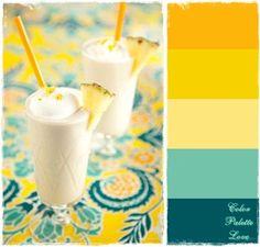 {Color Palette Love} Pineapple Milkshake