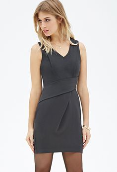 Origami Crepe Dress | FOREVER21 - 2052289113