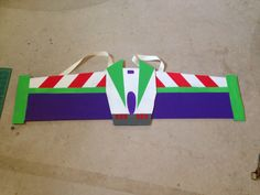 Buzz Lightyear Wings made from cardboard