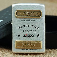 Japanese Korea Antique Silver 70th Anniversary YEARLY CODE Zippo Lighter