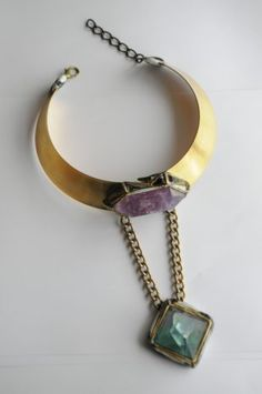 Fluorite Bar on Vintage Gold Tone Cuff with Gold Tone Fringe Necklace Length: (slightly adjustable) Pendant Width: x Length: Handmade . Fringe Necklace, Necklace Lengths, Vintage Designer Clothing, Wearable Art, Turquoise Necklace, Vintage Jewelry, Fashion Jewelry, Jewels, Couture