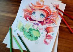 Disney Chibi Ariel By Lighane - Chibi Anime, Disney & Still Life Art by Lighane  <3 <3