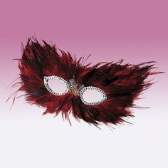 Red Feather Mask dazzle-dancewear.co.uk