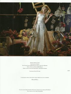 "Justine Mattera indossa abito Elisabetta Polignano - rivista ""White Sposa"""