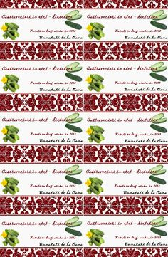 Etichete borcane - castraveciori in otet Jar Labels, Objects
