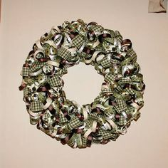 I want to make one for the front door. Ribbon wreath.