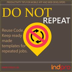 Productivity Tip. 1 for #WebDevelopers And #MobileAppDevelopers http://www.indpro.se/our-offer/project/mobile-apps/ … #Software Development