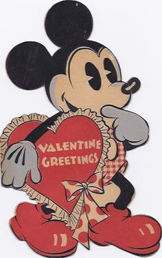 Walt Disney Mickey Mouse Valentine, 1934. From I Antique Online.