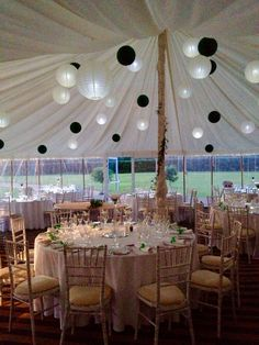 40'x40' marquee with clear sides adjacent to the Banqueting Hall and overlooking the historic Abbey Gatehouse. #Pentney Abbey, #Norfolk Weddings