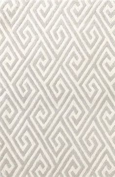 Fretwork Grey Wool Tufted Rug