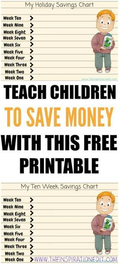 Do you want to help your child save money? Download this fantastic Kids Money Saving Chart for free. It is sure to help your child..