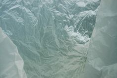 Francois Delfosse. Glacier cave just North of the South Pole viewed from the inside of a plastic bag.