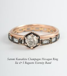 Needs sapphires...Catbird :: shop by category :: JEWELRY :: Rings :: Hexagon Ring, Champagne Diamond