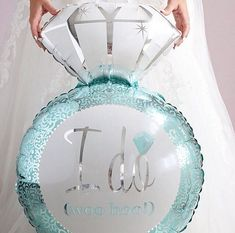 I Do Diamond Engagement Ring Mylar Balloon for Bridal Shower or Engagement Party - Aqua Blue Tiffany Blue Party, Azul Tiffany, Tiffany Wedding, Bridal Shower Balloons, My Bridal Shower, Bridal Shower Decorations, Wedding Decorations, Tiffany's Bridal, Blue Bridal
