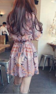 Vestido de chiffon bohemian!