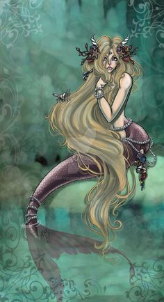 The mermaids comb by Harpyqueen.deviantart.com on @DeviantArt