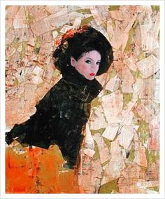 Richard Burlet / To Klimt Painting People, Woman Painting, Figure Painting, Painting & Drawing, Richard Burlet, Portrait Art, Portraits, Figurative Art, Love Art