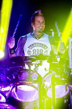 DETROIT, MI - OCTOBER 08: Jeremy Spencer of Five Finger Death Punch performs in support of The Wrong Side of Heavan Tour at The Fillmore Detroit on October 8, 2013 in Detroit, Michigan.
