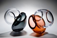 Symbiosis Page — Laura McKinley Glass Vessel, Glass Ceramic, Art Of Beauty, Art Of Glass, Hand Blown Glass, Design Elements, Aurora, Engagement Rings, Grey
