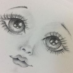 1 million+ Stunning Free Images to Use Anywhere Pencil Drawing Pictures, Pictures To Draw, Doll Face Paint, Doll Painting, Dolly Doll, Cartoon Eyes, Doll Eyes, Sewing Dolls, Doll Head