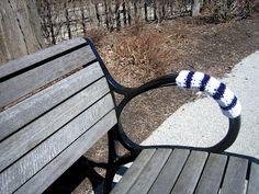 #yarnbombing Yarn Bombing, Graffiti, Street Art, Crafting, Park, World, Outdoor Decor, Style, Do Crafts