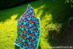 Nähfrosch kostenlose Anleitung riesiges Kapuzenhandtuch für Kinder nähen Freebook Tutorial DIY Bio Jersey PonyBloom von Shalmiak Sewing for Kids