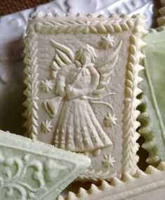 Springerle Angel Playing Trumpet cookie mold 1147
