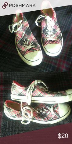 Checkered Converse Good condition. Size 9. Will go over white part with a magic eraser before sending Converse Shoes Sneakers