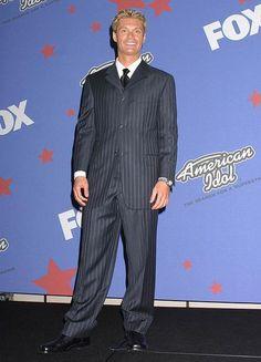 Ryan Seacrest, season one of American Idol. He definitely looks better now.