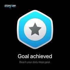 Then share it with us! #StepsApp Achieving Goals, App, Logos, Reaching Goals, Logo, Apps