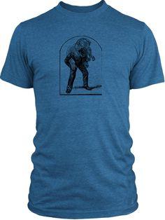 Big Texas Carrying An Elephant (Black) Vintage Tri-Blend T-Shirt