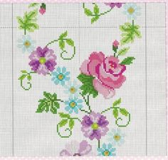 This Pin was discovered by HUZ Cross Stitch Borders, Simple Cross Stitch, Cross Stitch Rose, Cross Stitch Flowers, Cross Stitch Designs, Cross Stitching, Cross Stitch Patterns, Embroidery Stitches, Embroidery Patterns