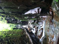 The Flume gorge at the White mountains