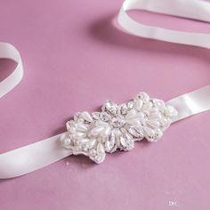 Wedding Sash, Rhinestones Pearls Wedding Belt, Bridal Sash,Jeweled Wedding Sash, Crystal Rhinestone Belt, Bridal Sash Belt S35 Online with $28.27/Piece on Yupan's Store   DHgate.com