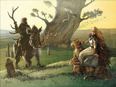 Freyr and Freyja by Richard Pace