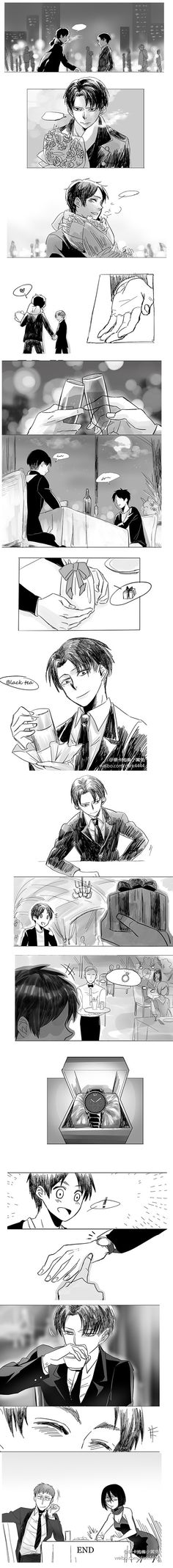 Seriously Levi no ring come the fuck on. oh I bet after tonight there will be a rig trust me with there sex there's gonna be a ring trust me Mikasa, Armin, Eren E Levi, Ereri, Attack On Titan Comic, Attack On Titan Ships, Titans Anime, My Emotions, Levi Ackerman