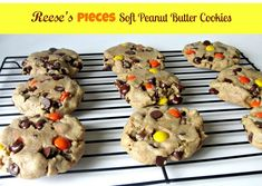 Reese's Pieces Soft Peanut Butter Cookies- Out of this world amazing!