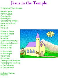 Jesus in the Temple Song Printable