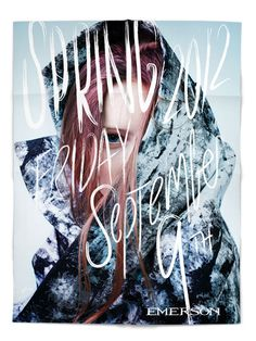 Adam&Co. designed this invitation for Emerson's Spring 2012 runway show at Mercedes Fashion Week