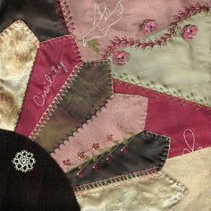 I ❤ crazy quilting & embroidery . . . Victorian CQ Civility ~By Vicki Tobin