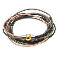 4 forskellige farver læder - armbånd