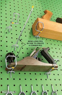 Ever had a plane, level or squareget dinged up after falling offthe pegboard