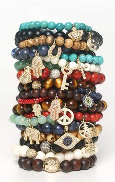 beaded bracelets....