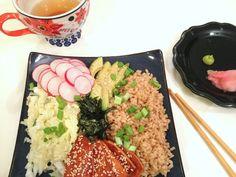 sweet potato sushi bowl