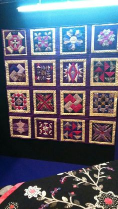 My first big quilt on display at the SECC - thanks to my lovely teachers at the Scotstoun classes.